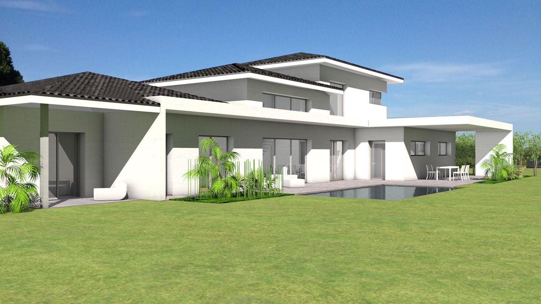 Plan Maison Architecte - Maison Contemporaine Mixant Les intérieur Pente Toiture Terrasse