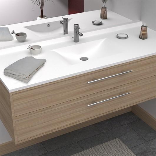 Plan Simple Vasque En Résine De Synthèse Resiplan - 140 Cm tout Plan Vasque 140