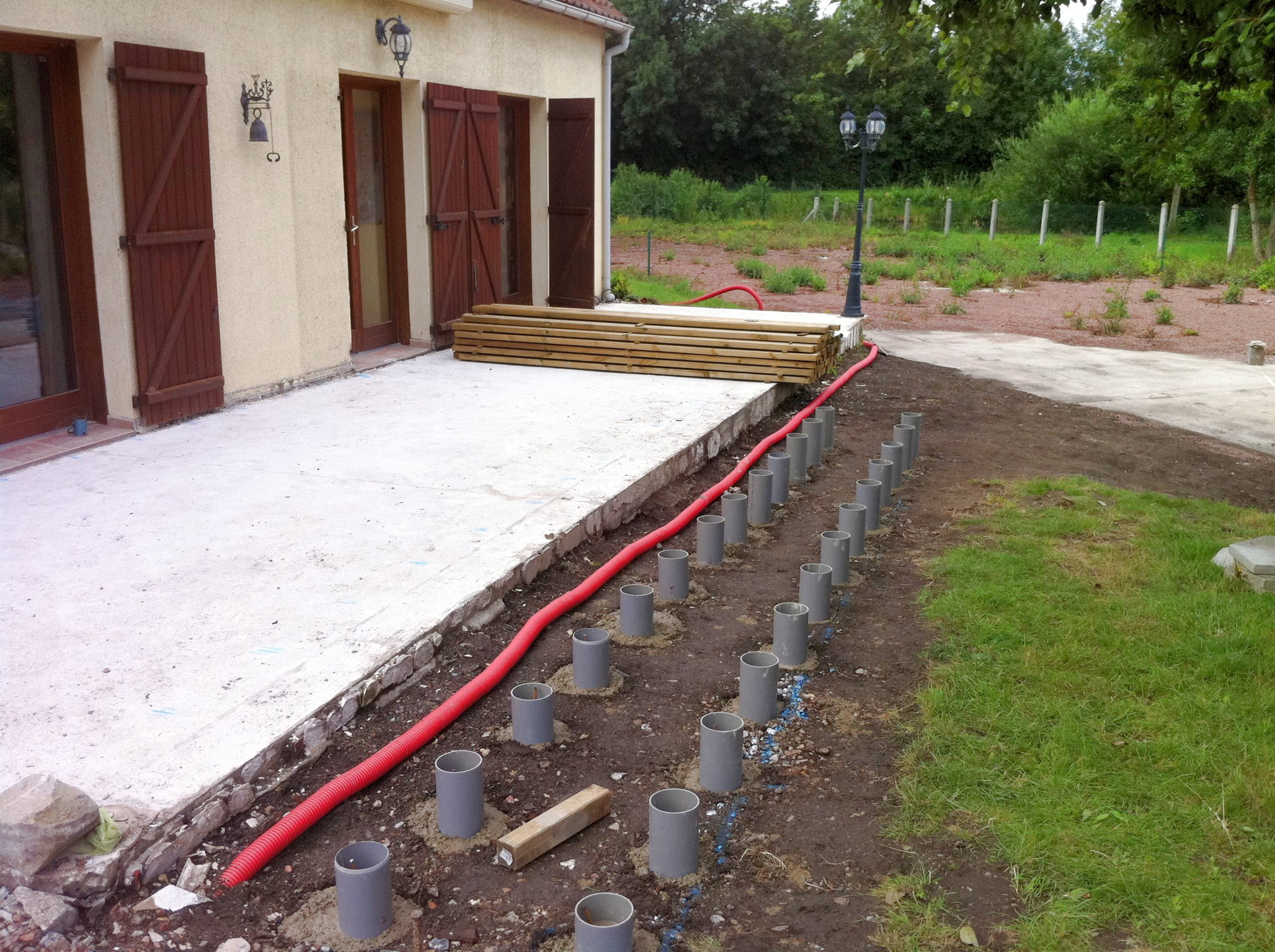 Plot Beton Terrasse - Wikilia.fr intérieur Plot Pvc Pour Terrasse Bois Brico Depot