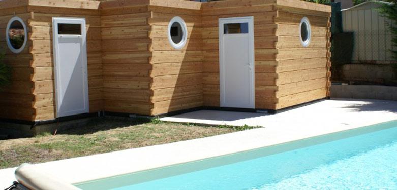 Pool House Bois : Abri De Piscine Et Studio De Jardin En concernant Pool House En Kit