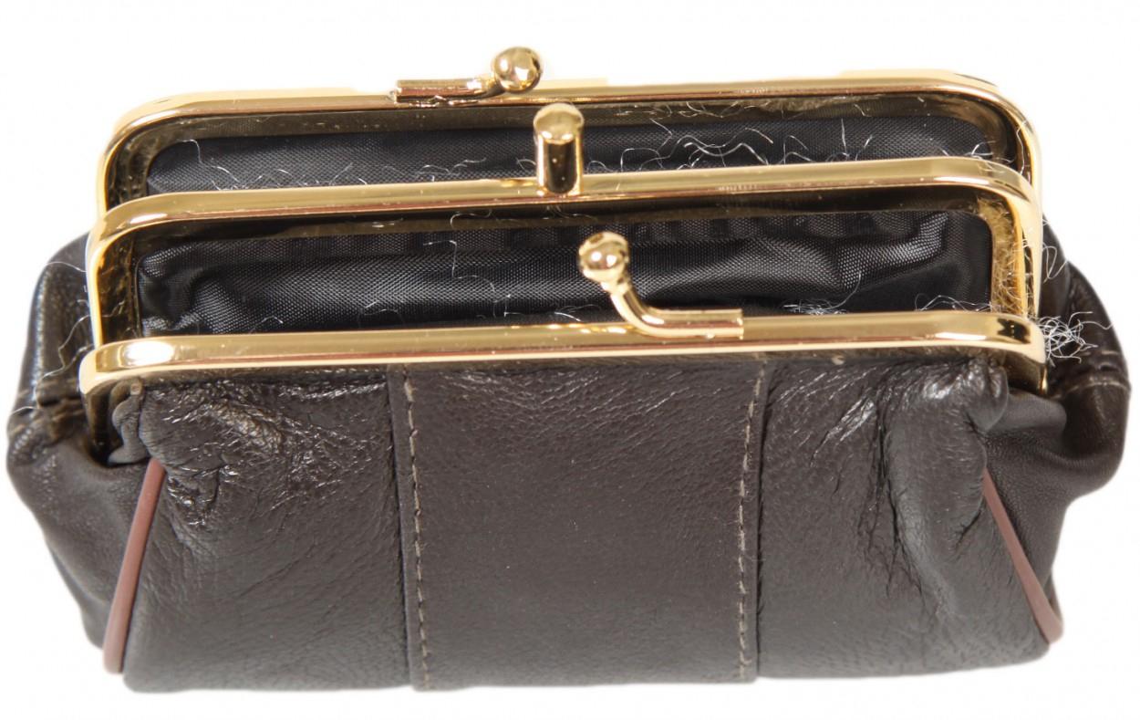 Porte Monnaie Femme Cuir Clic Clac Couleur Noir | Acloz encequiconcerne Clacmap