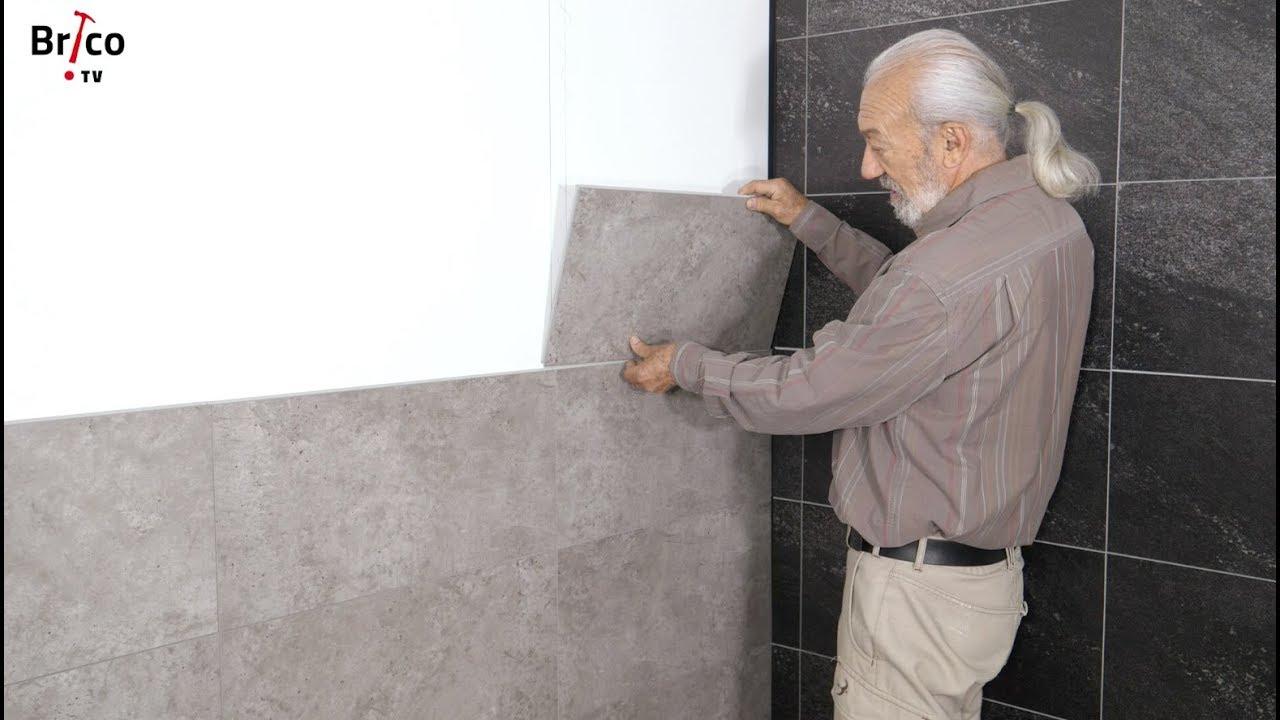 Poser Du Carrelage Mural Composite - Tuto Bricolage Avec Robert tout Panneau Composite Salle De Bain