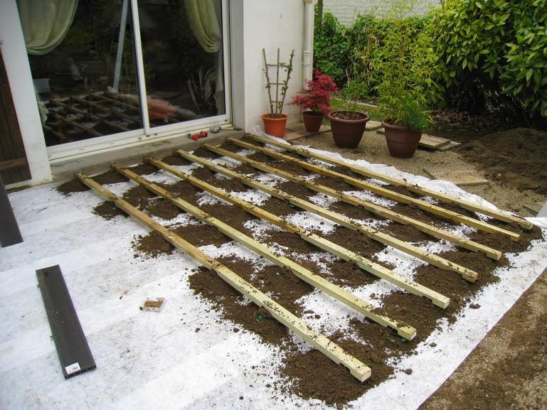 Poser Une Terrasse En Bois Sur Gazon - Davidreed.co concernant Terrasse Bois Sur Terre