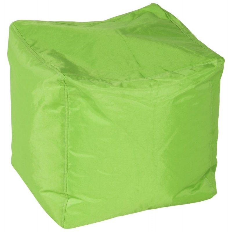 Pouf Carré Calandre En Textile (Vert) | Pouf Carré, Billes destiné Billes De Polystyrène Pour Pouf Castorama