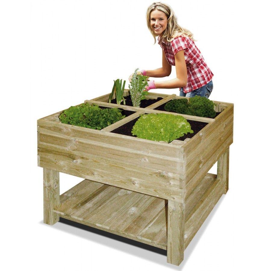 Pour Terrarium: Jardin Potager Sur Pieds 100 X 100 X 80 Cm destiné Carré De Jardin En Bois