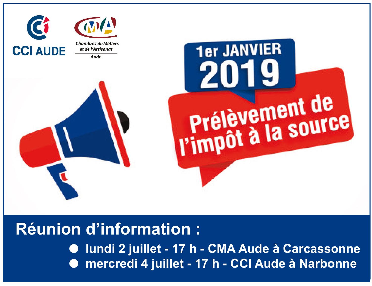 Prélèvement De L'impôt À La Source - Réunion D'information dedans Chambre Des Metiers Carcassonne