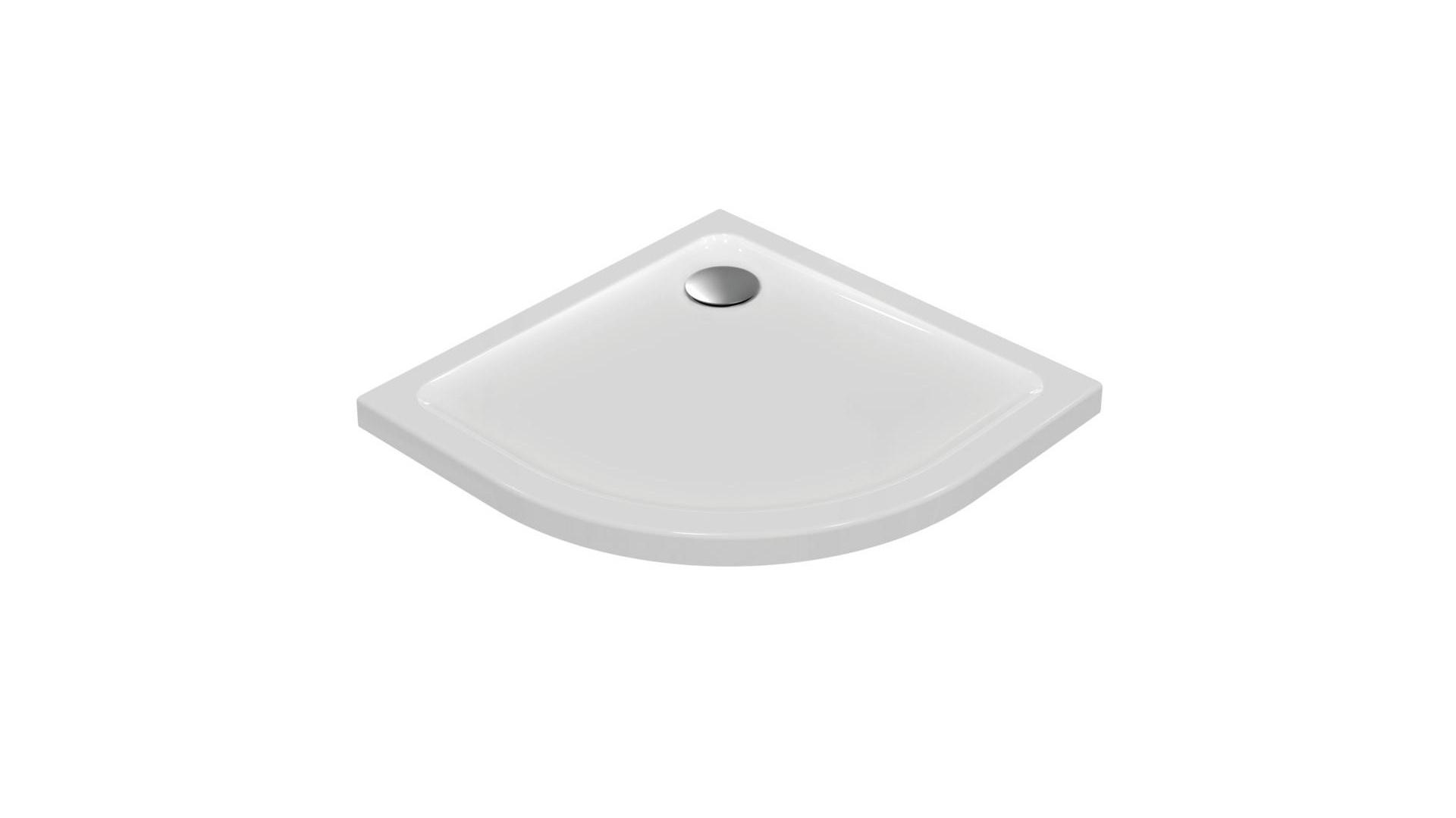 Receveur D'angle 90 X 90 Cm Quart De Rond Connect Design Ideal Standard dedans Receveur De Douche Extra Plat 90X90