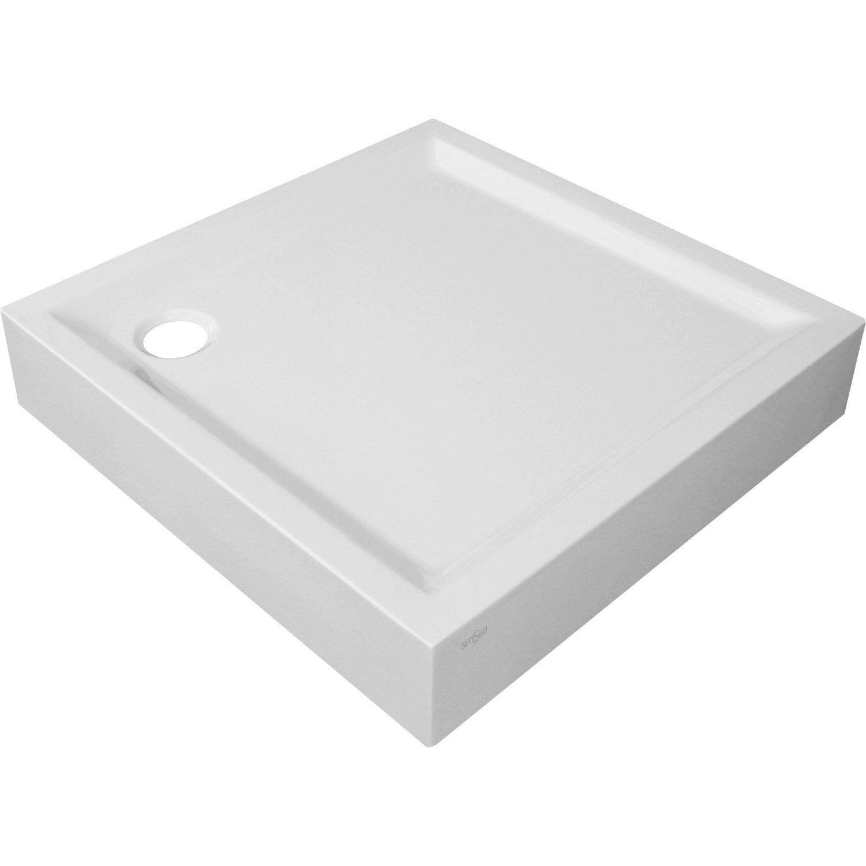 Receveur De Douche Carré L.80 X L.80 Cm, Acrylique Blanc à Receveur De Douche 140X90 Blanc