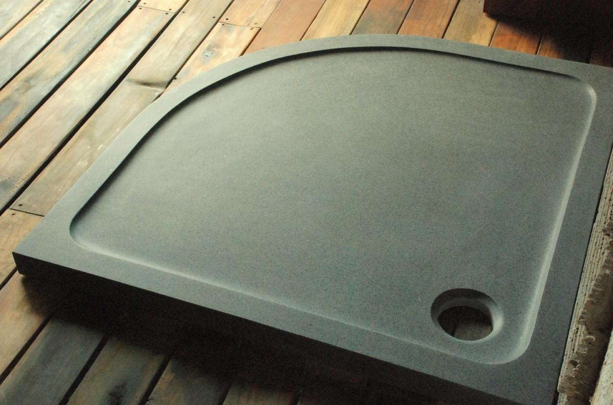 Receveur De Douche D'angle 1/4 De Rond 90X90Cm Granit Véritable Lagoon à Receveur De Douche Extra Plat 90X90