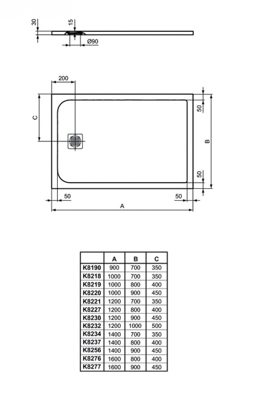 Receveur De Douche Ultra Flat S - Blanc Pur - Ideal Standard pour Receveur 70X90