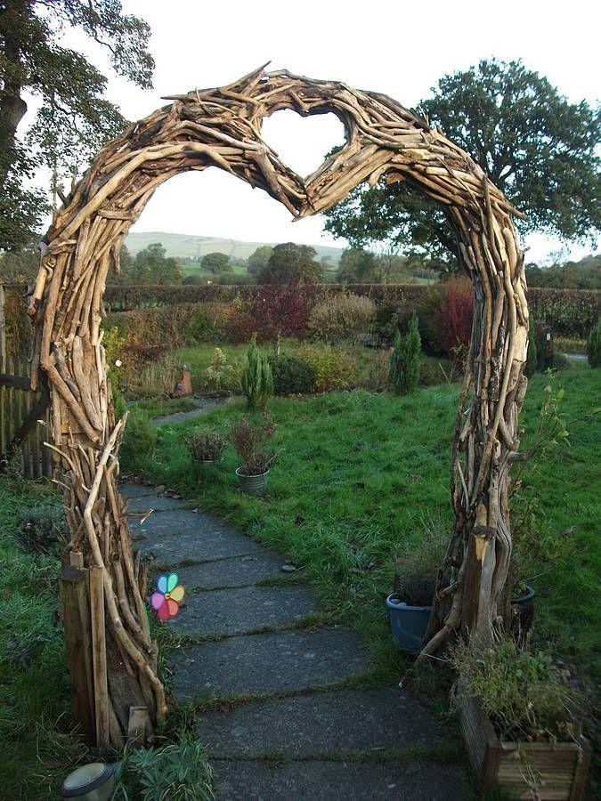 Rental: Drift Wood Arch.   Driftwood Wedding Arches avec Arche De Jardin En Bois