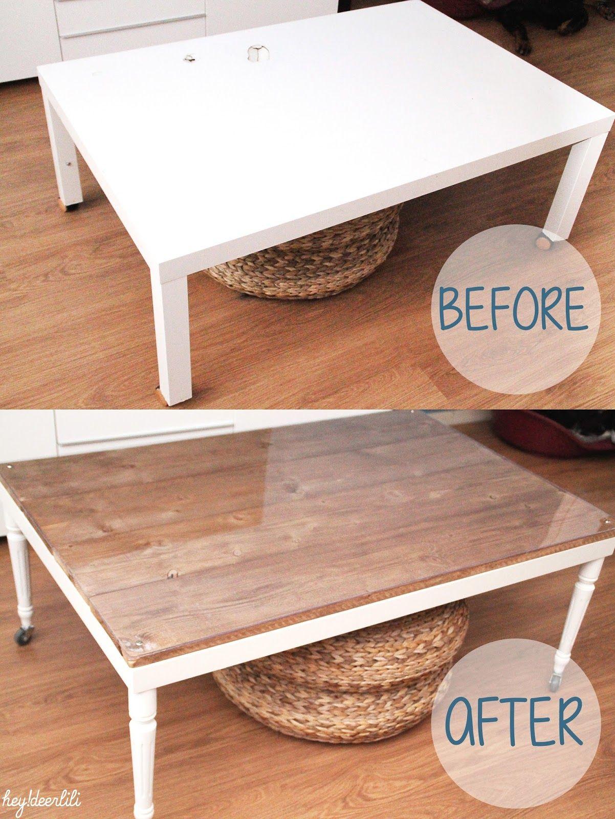 Retaper Un Basique: La Table Basse Ikea | Table Basse Ikea avec Revêtement Adhésif Pour Meuble Ikea
