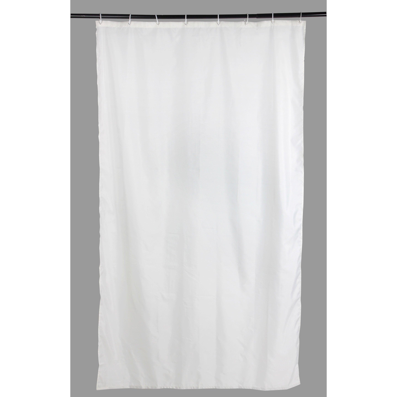 Rideau De Douche En Textile Blanc 120X200 Cm Sunny Sensea dedans Leroy Merlin Rideau De Douche