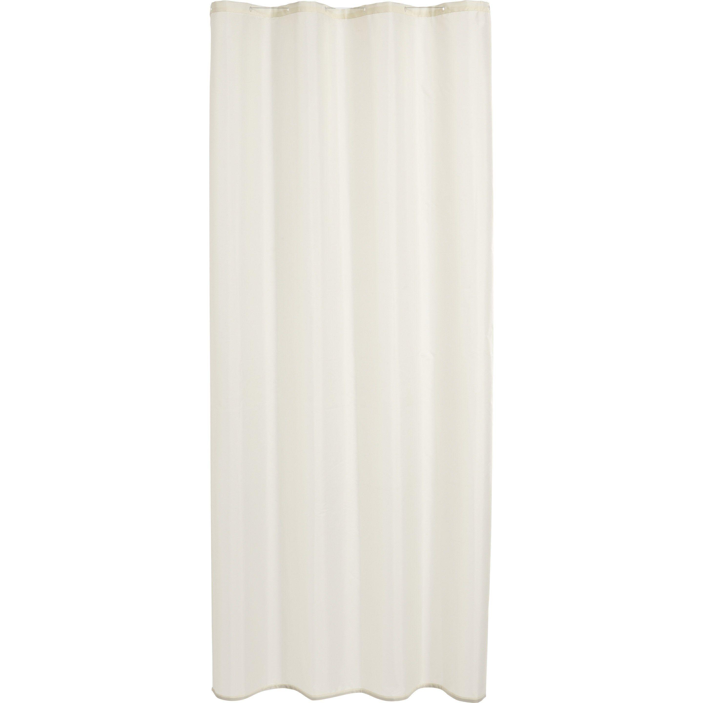 Rideau De Douche En Textile Blanc-Blanc N°0 L.120 X H.200 Cm à Leroy Merlin Rideau De Douche