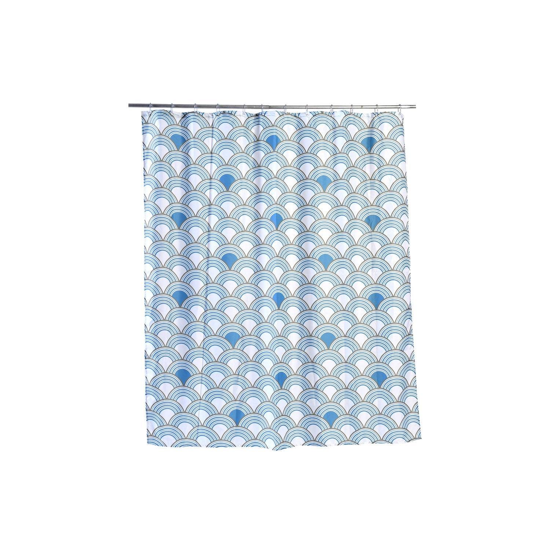 Rideau De Douche En Textile Bleu 180X200 Cm Kimono Sensea tout Leroy Merlin Rideau De Douche