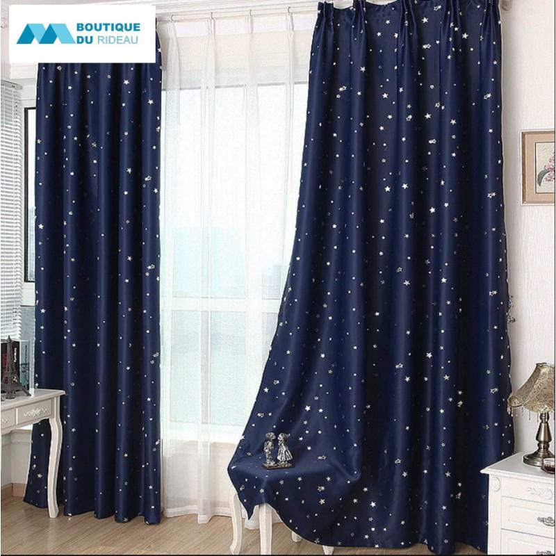 Rideau Étoiles Enfant Étoile   Rideaux Occultant Bleu concernant Rideau Occultant Chambre Bébé