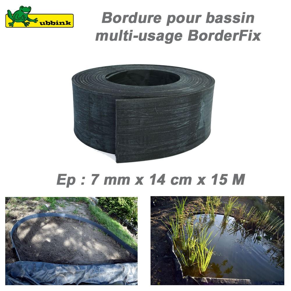 Rouleau 14 Cmx15 M Bordure Boderfix Bâche Bassin serapportantà Bordure Jardin Pas Cher