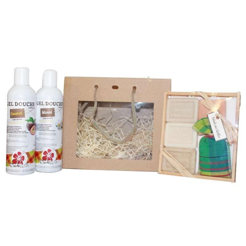 Sac-Cadeaux-Coffret-3-Mini-Savons-2-Gels-Douche concernant Un Mini Gel Douche