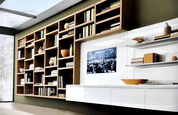 Salle À Manger - Bibliothèque Moderne En Bois Et Meuble tout Bibliothèque But