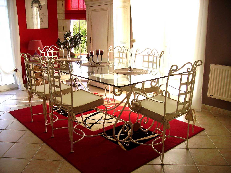 Salle À Manger Fer Forgé Versailles - 3 Photos - Fer Forgé pour Table Salle A Manger En Fer Forgé