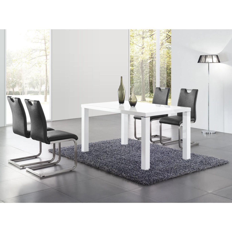 Salle À Manger - Table Blanc Laqué 180 - Comforium intérieur Table A Manger Design