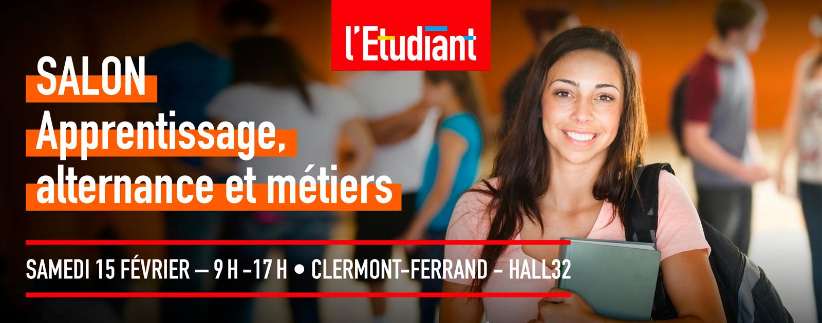 Salon Apprentissage, Alternance Et Métiers De Clermont intérieur Chambre Des Metiers Clermont Ferrand