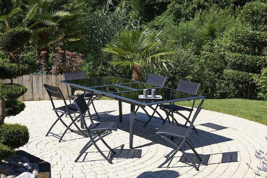 Salon De Jardin 6 Personnes California Dcb Garden Pas Cher à Salon De Jardin Auchan Noyelles Godault