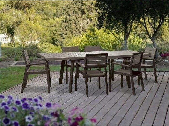 Salon De Jardin 6 Personnes Harmony Pas Cher - Soldes pour Soldes Mobilier De Jardin