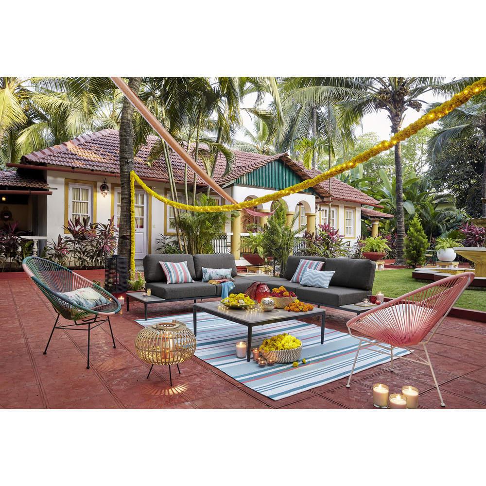 Salon De Jardin 6 Places Gris Clair En Aluminium San Paolo dedans Salon De Jardin Maison Du Monde
