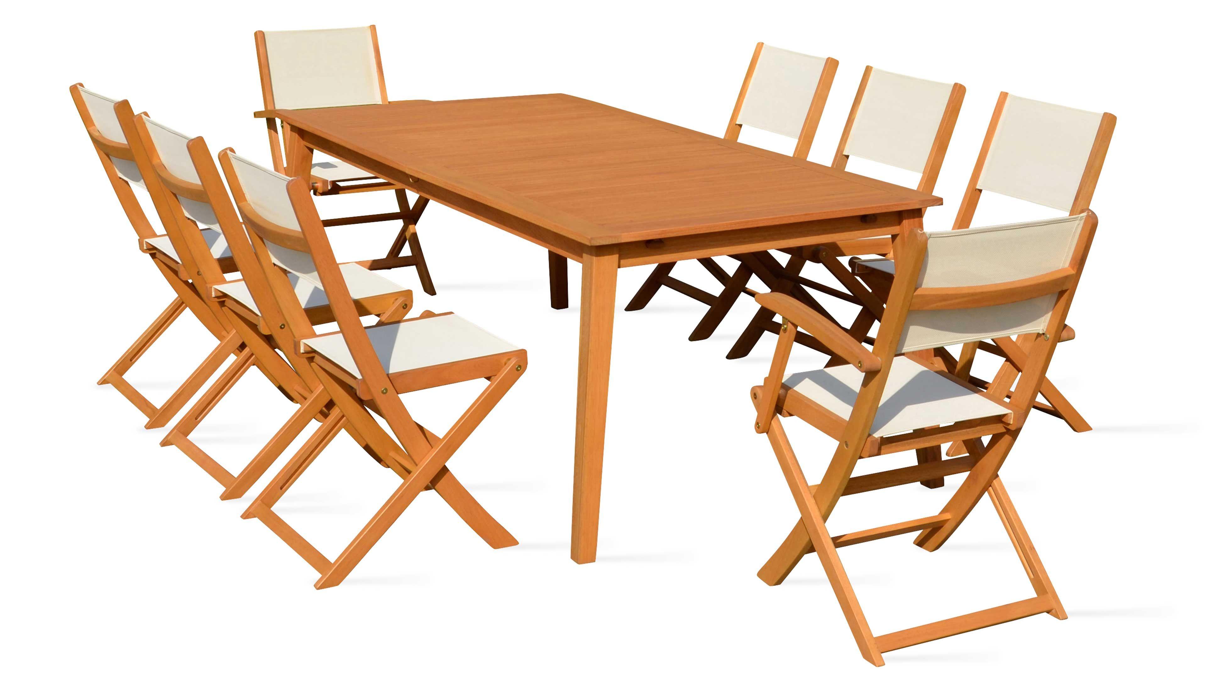 Salon De Jardin 8 Places En Bois Table Et Chaise encequiconcerne Table De Jardin En Bois Avec Chaises
