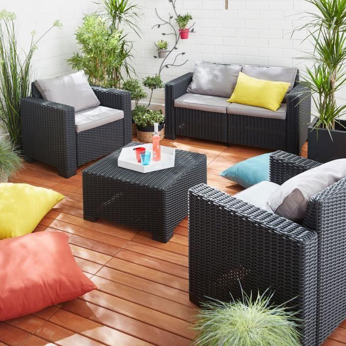 Salon De Jardin Allibert Hawaï Gris - Abri De Jardin Et destiné Allibert California Gris