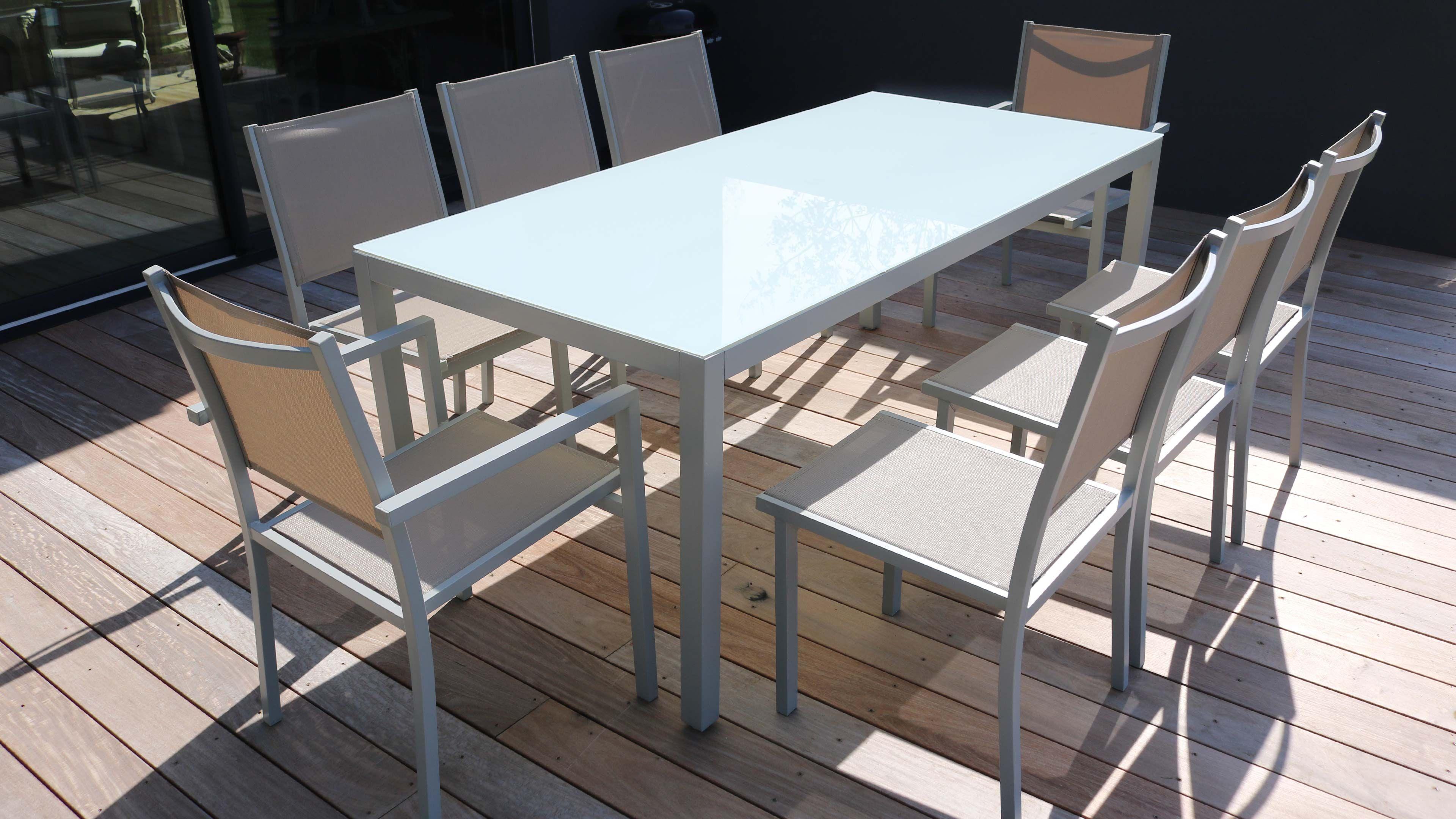 Salon De Jardin Aluminium Table De Jardin 8 Places avec Salon De Jardin Aluminium 8 Places