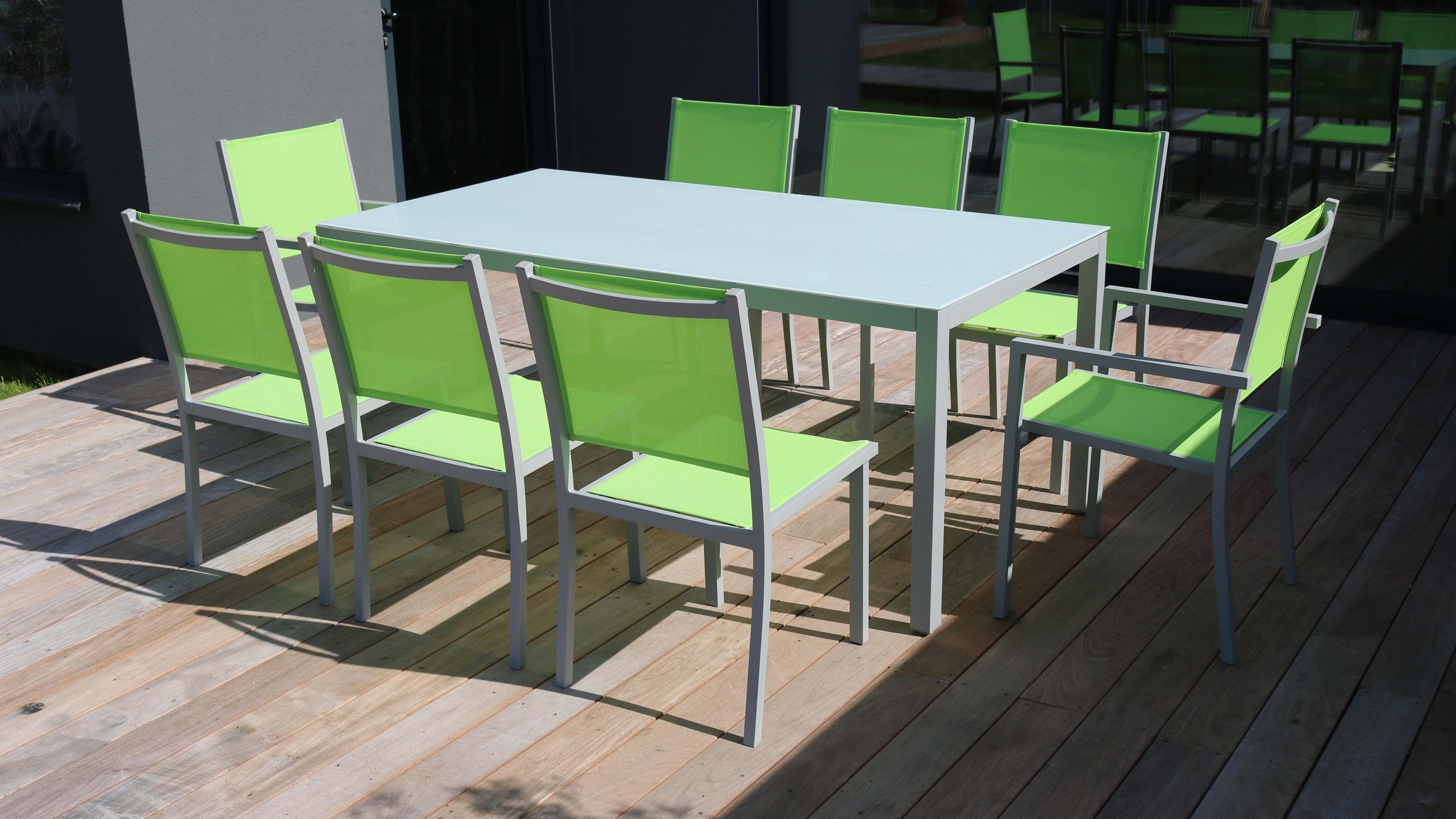 Salon De Jardin Aluminium Table De Jardin 8 Places serapportantà Salon De Jardin Aluminium 8 Places