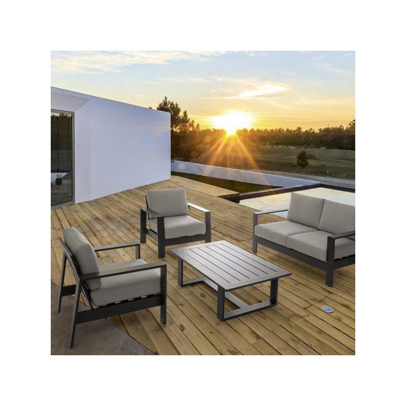Salon De Jardin Atlantic Bizzotto 4 Places Aluminium avec Salon De Jardin Cap Est