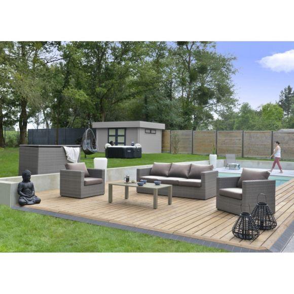 Salon De Jardin Bas Durban Pas Cher Achat Vente Ensembles encequiconcerne Salon De Jardin Aluminium Pas Cher