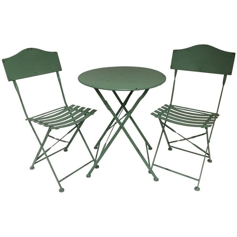 Salon De Jardin Bistrot Chaise Table De Jardin En Fer Pliable avec Salon Jardin Pliable