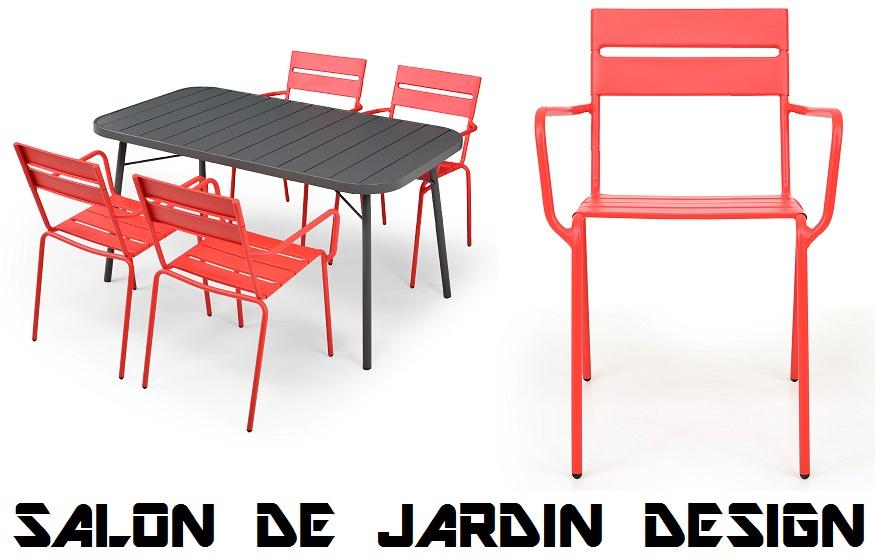 Salon De Jardin Design Pas Cher !!! Table Et Chaise En concernant Salon De Jardin Pas Cher En Plastique