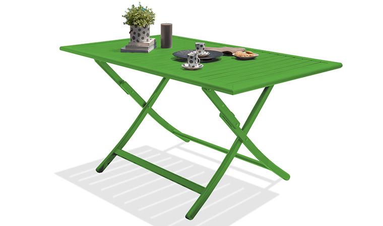 Salon De Jardin En Aluminium Vert 4 Places : Pliant Et avec Salon De Jardin Pliant