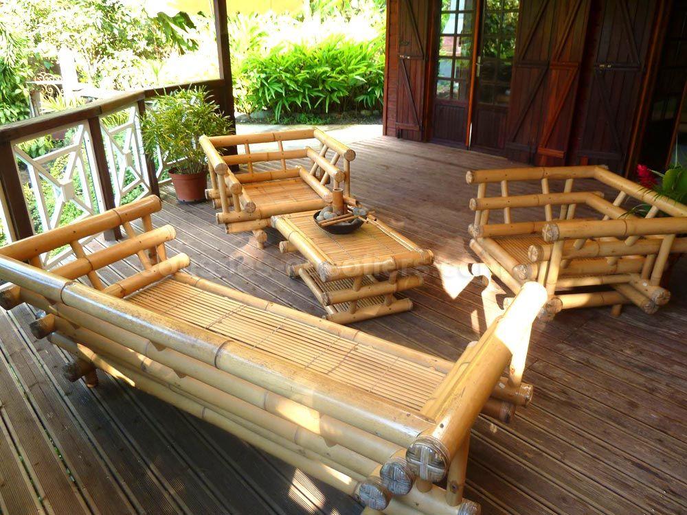 Salon De Jardin En Bambou | Idées De Décoration Intérieure encequiconcerne Déco Jardin Bambou