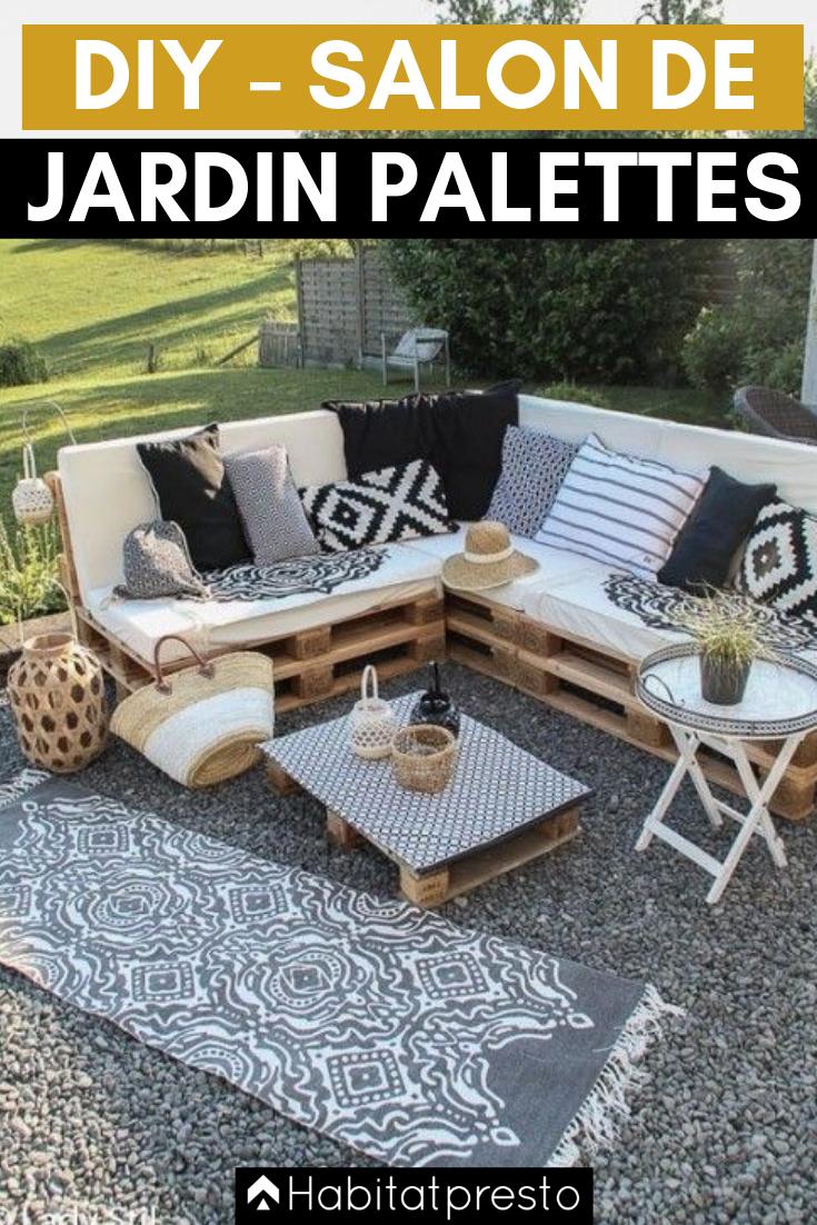 Fabriquer Un Salon De Jardin En Palettes - Le Club concernant
