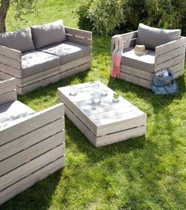 Salon De Jardin Fabriqué Avec Des Palettes - Abri De concernant Fabriquer Sa Table De Jardin