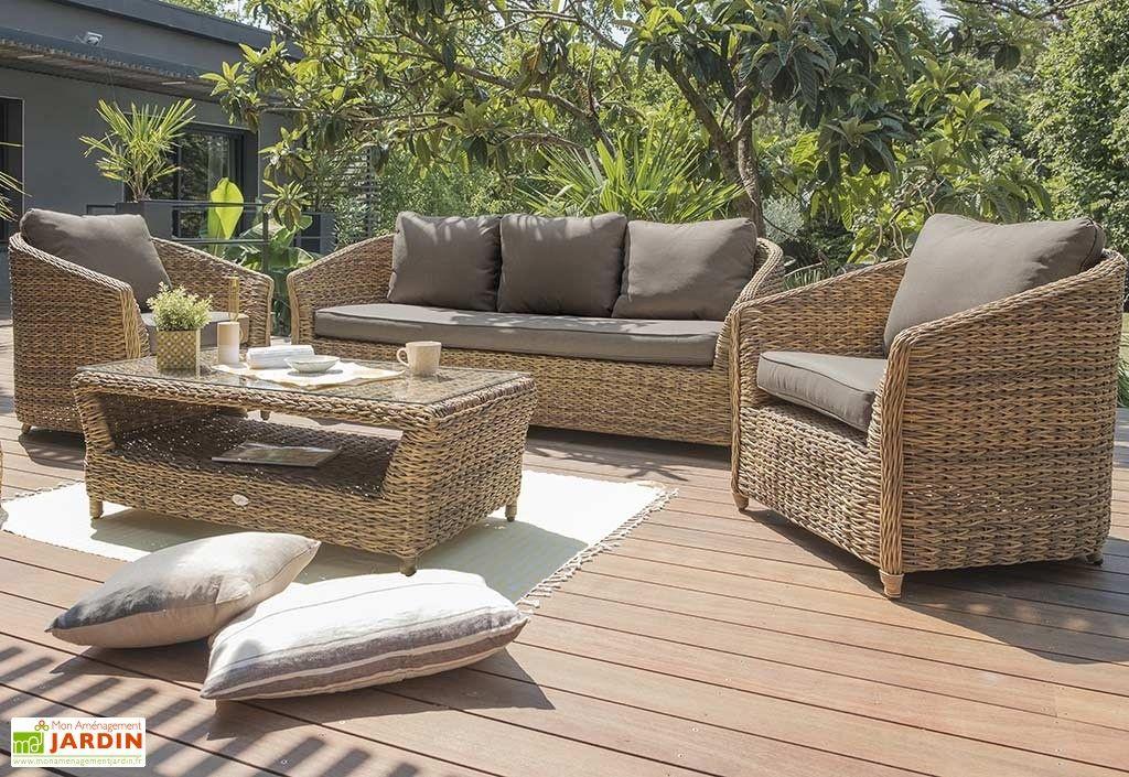Salon De Jardin Havana En Aluminium Et Résine Tressée concernant Adov Salon De Jardin