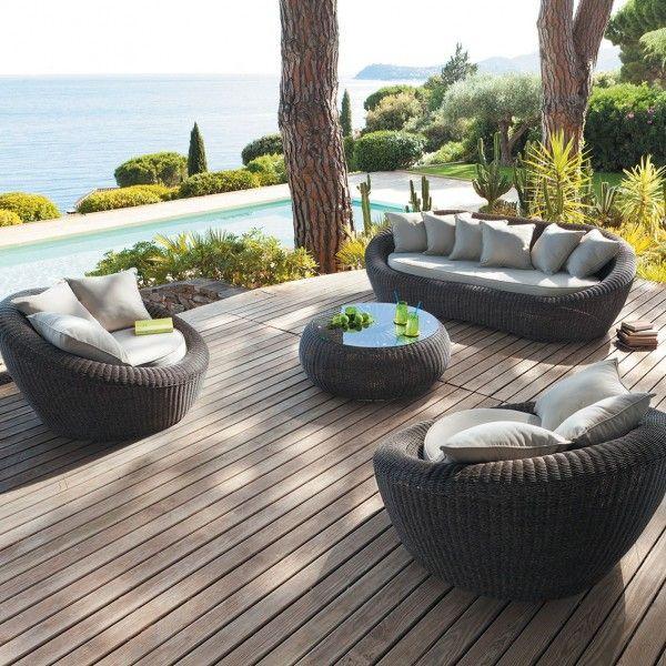 Salon De Jardin Java Sepia/Sable - 5 Places - Salon De serapportantà Salon De Jardin Modulable Jade
