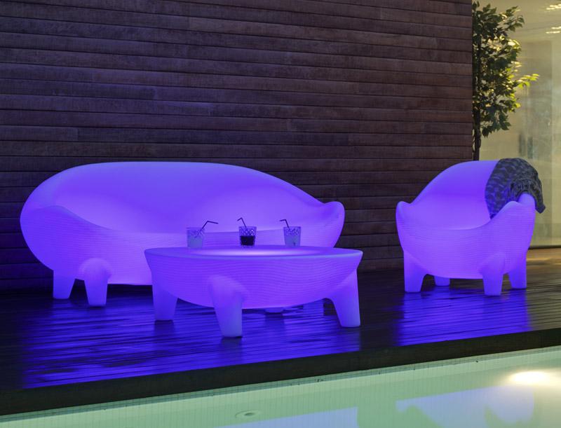 Salon De Jardin Lumineux New Island - Culture-Design serapportantà Salon De Jardin Lumineux