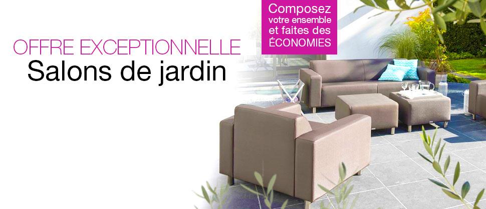 Salon De Jardin Pas Cher : Canapé, Table-Basse – Événement pour Truffaut Salon De Jardin