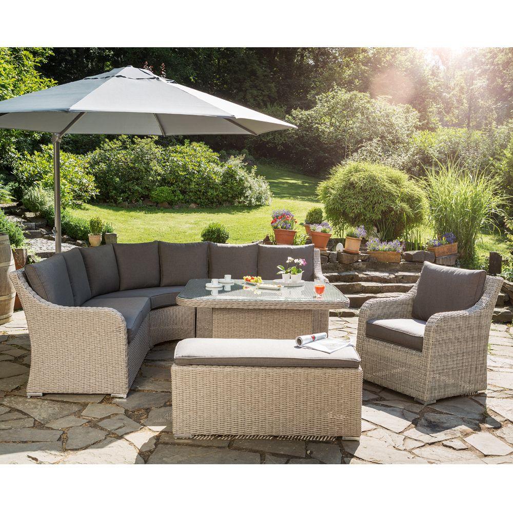 Salon De Jardin Résine Madrid Kettler : Canapé + Table pour Salon De Jardin Foire Fouille