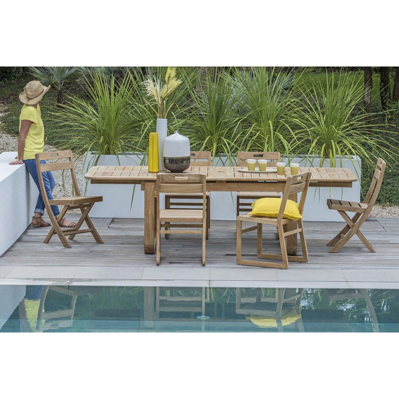 Salon De Jardin Resort Naterial Brun Marron, 6 Personnes à Salon De Jardin Solde Leroy Merlin