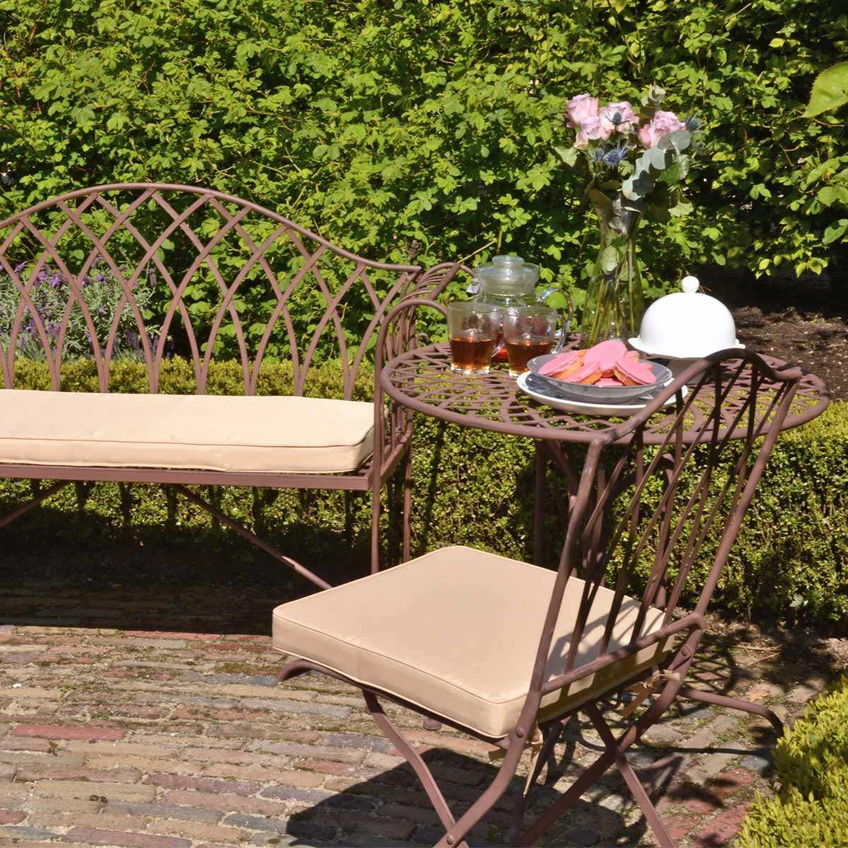 Salon De Jardin Sophia En Acier Style Fer Forgé, Vente Au pour Décoration Jardin Fer Forgé