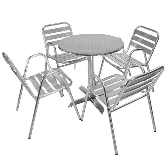 Salon De Jardin Table Et Chaise Alu - Châlet, Maison Et Cabane concernant Chaise De Jardin Auchan