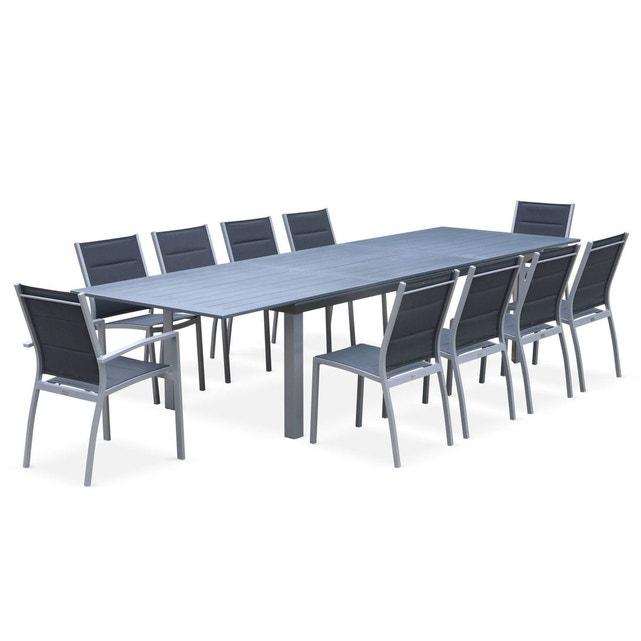 Salon De Jardin Table Extensible - Odenton - Grande Table encequiconcerne Table De Jardin Aluminium Jardiland